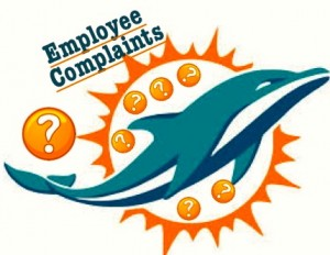 Miami Dolphins Employee Complaints