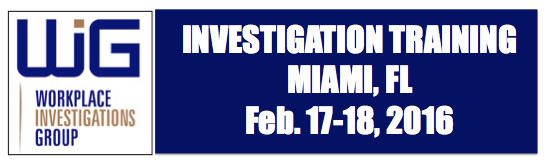 workplace investigation training